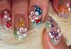 приклад художнього розпису нігтів, фоторгафія художнього розпису нігтів